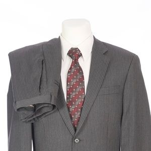 Michael Kors Charcoal Gray Pinstripe Wool Suit